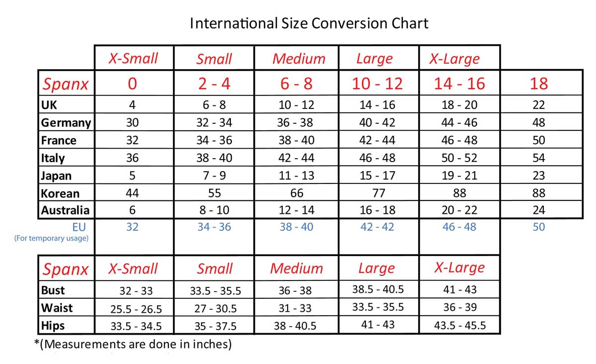 Bra Size Convertor and Bra sizes Chart | Bras & Honey